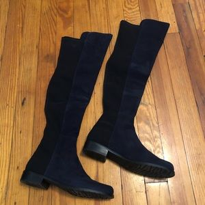 Stuart Weitzman 2 tone over the knee high boots